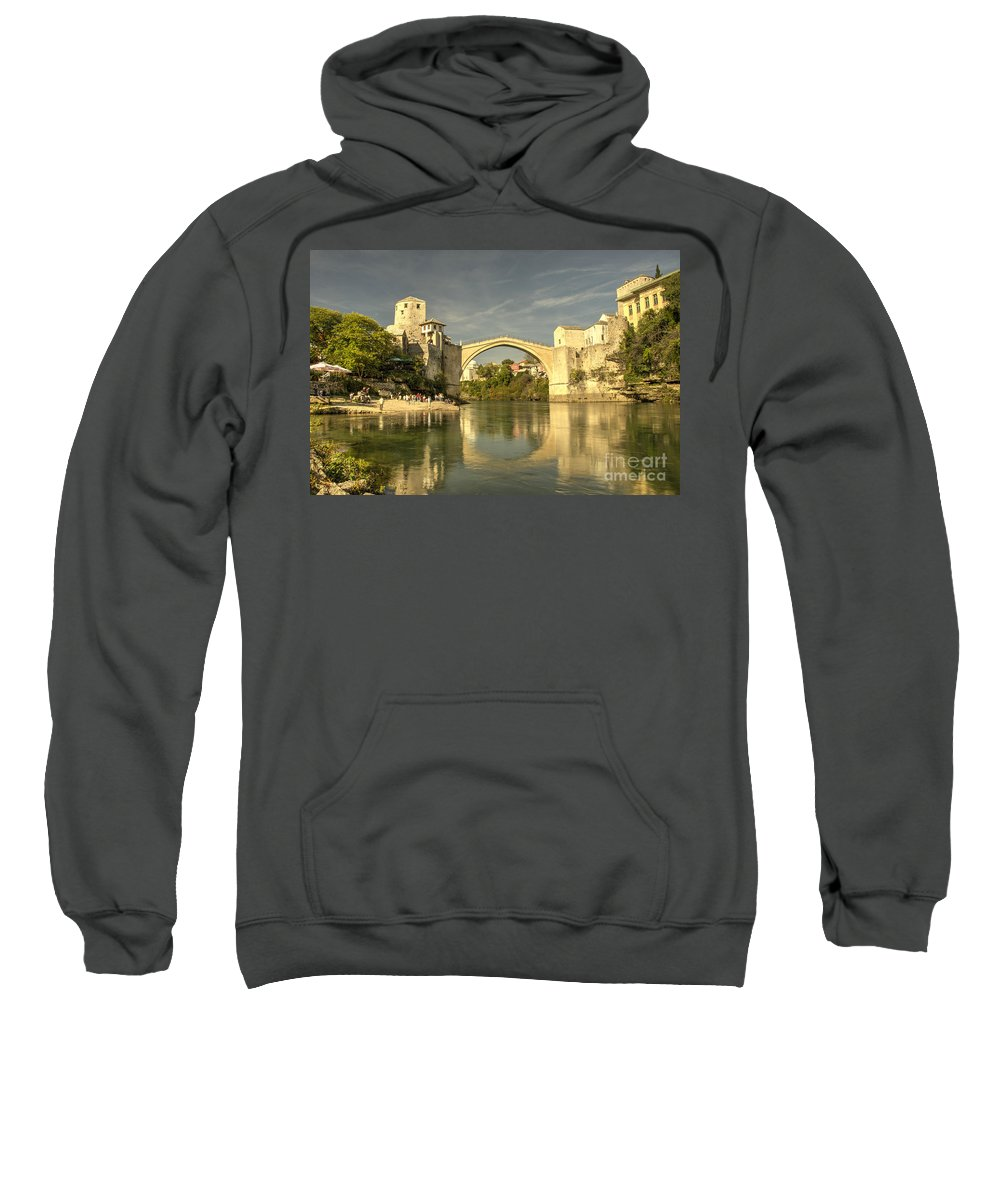Stari Sweatshirt featuring the photograph The Old Bridge At Mostar by Rob Hawkins