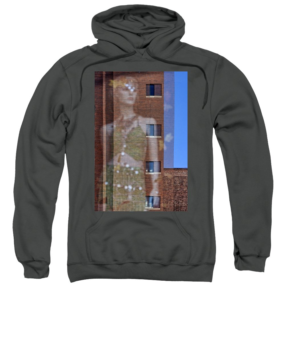 Reflection Sweatshirt featuring the photograph The Other Side Of The Story #1 by Nikolyn McDonald