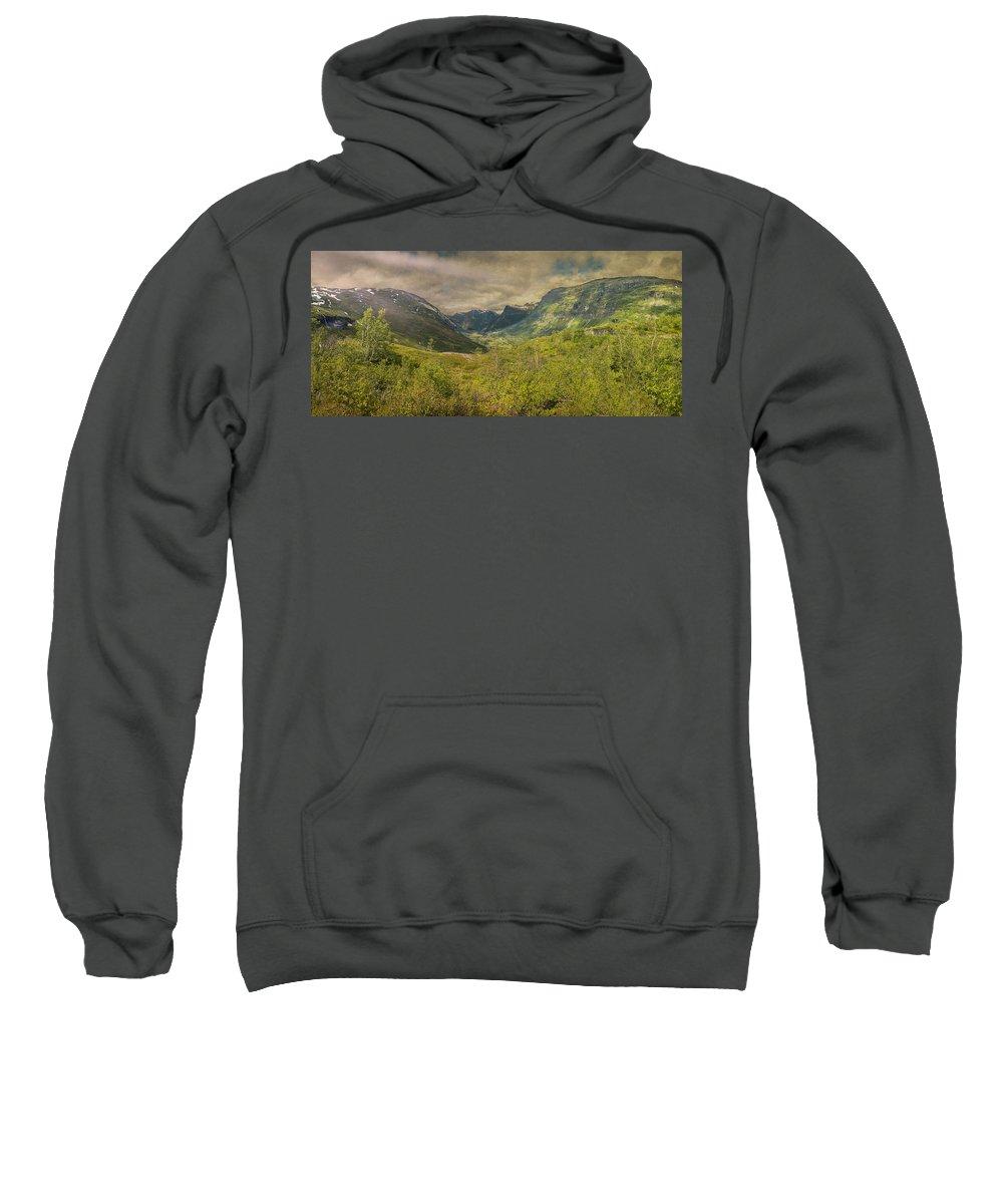 The Other Side Of Trollstigen Norway Sweatshirt featuring the photograph The Other Side Of Trollstigen Norway by Angela Stanton