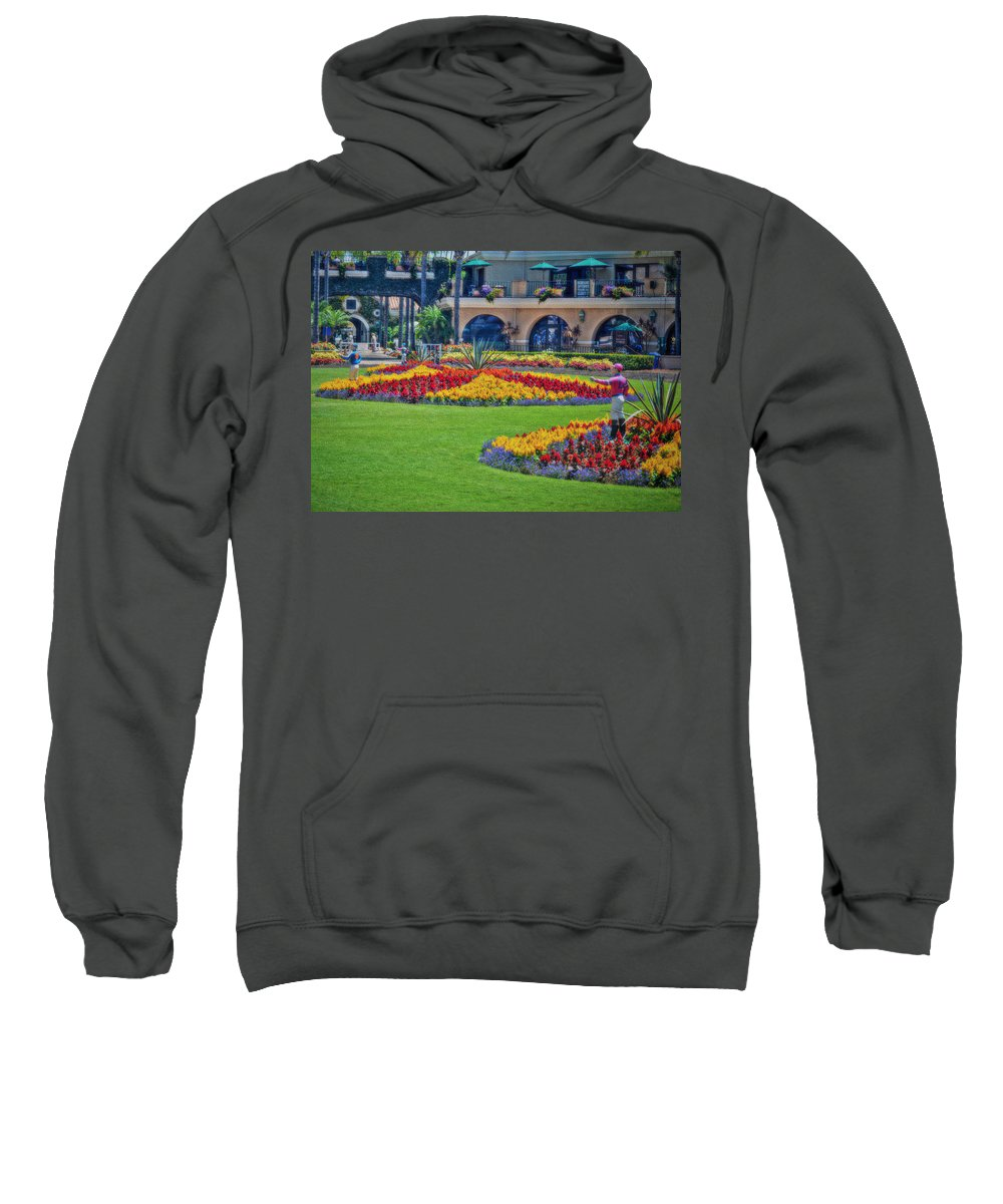 The Paddock Sweatshirt featuring the photograph The Paddock At Del Mar by See My Photos