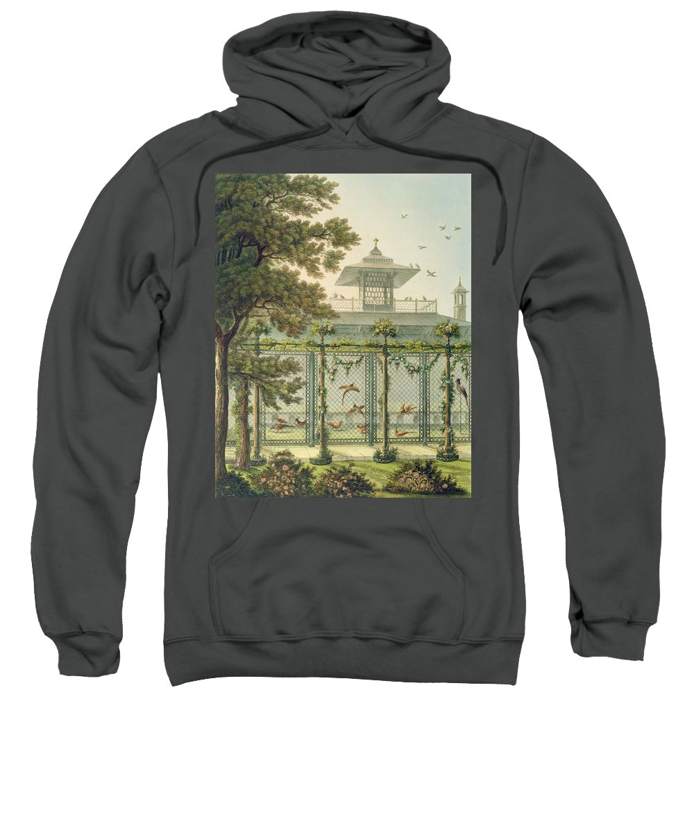 The Pheasantry Sweatshirt featuring the painting The Pheasantry by Humphry Repton