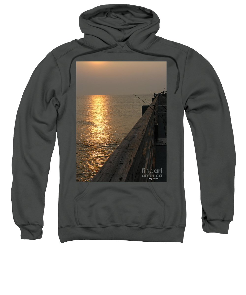 Art For The Wall...patzer Photography Sweatshirt featuring the photograph The Pole by Greg Patzer