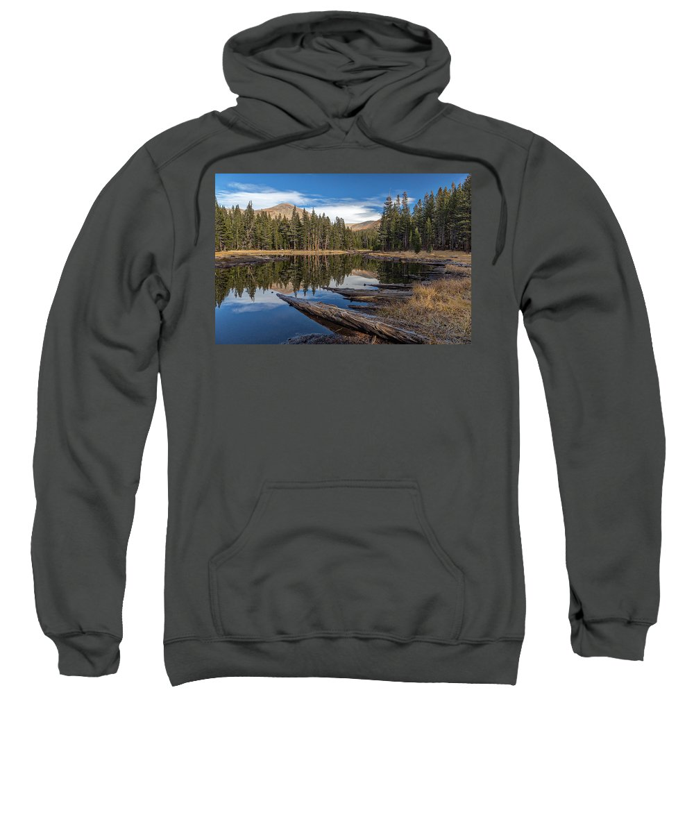 Big Sky Sweatshirt featuring the photograph The Pond At Dana Meadow by Peter Tellone