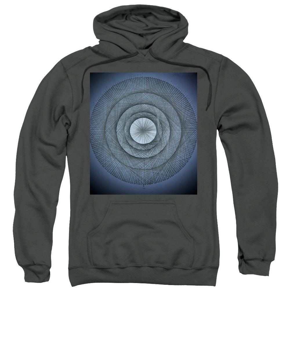Pi Sweatshirt featuring the drawing The Power Of Pi by Jason Padgett
