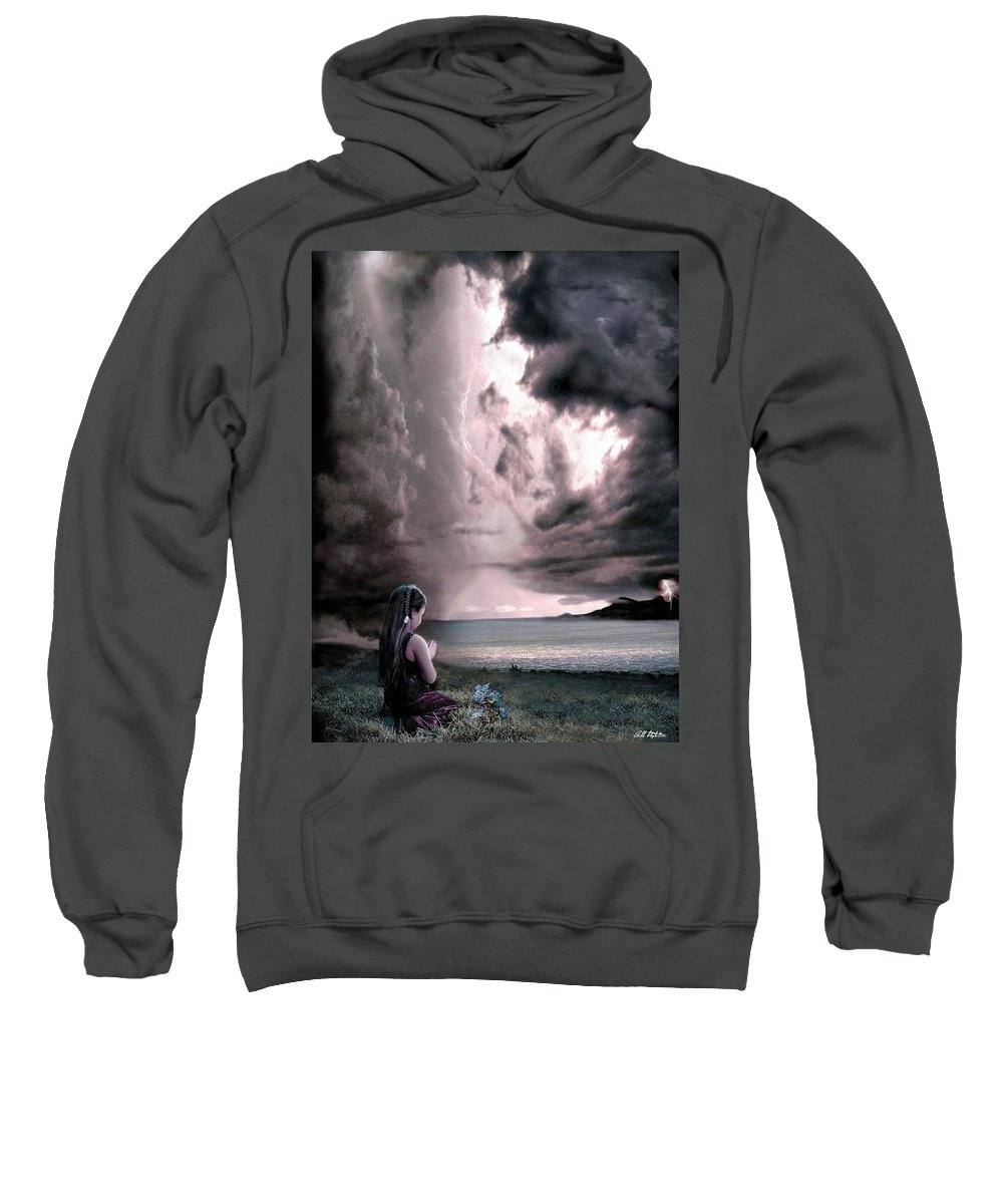 Children Sweatshirt featuring the mixed media The Prayer by Bill Stephens