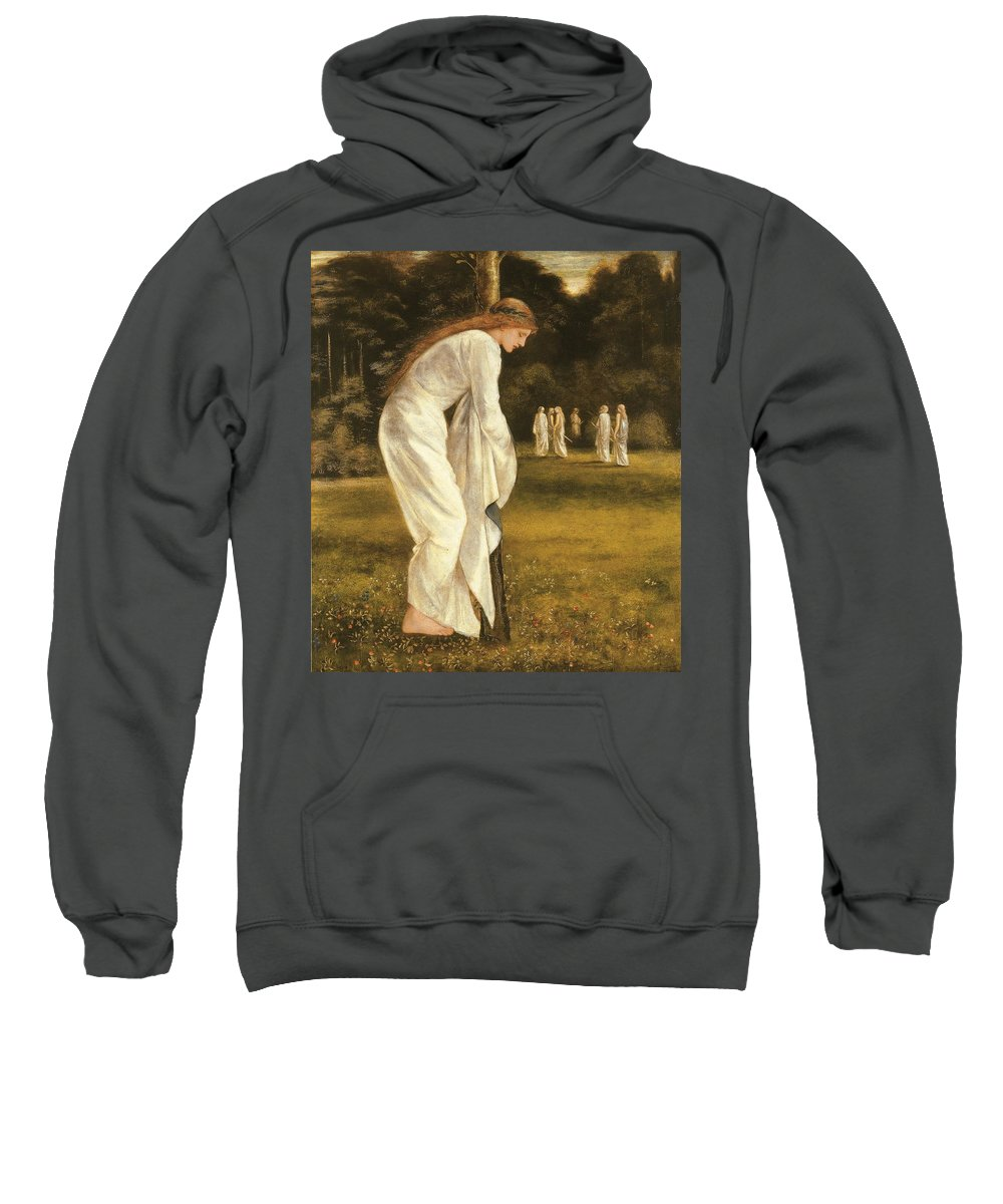 Princess Sweatshirt featuring the painting The Princess Tied To A Tree by Sir Edward Coley Burne-Jones