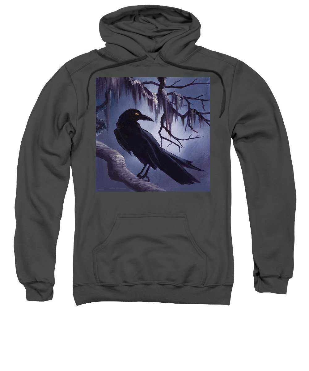 James C. Hill Sweatshirt featuring the painting The Raven by James Christopher Hill