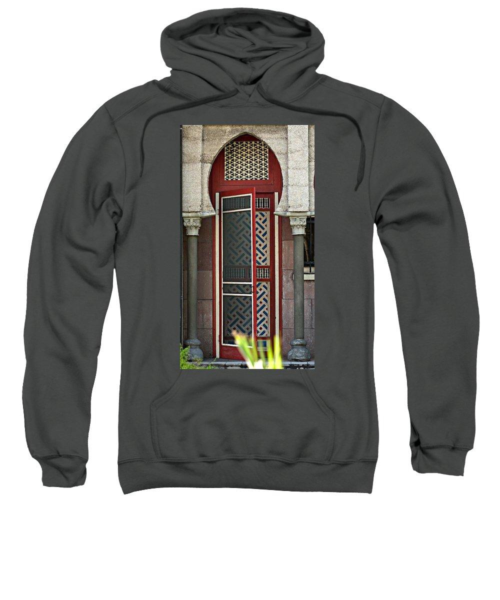 Red Door Sweatshirt featuring the photograph The Red Door by Bob Pardue