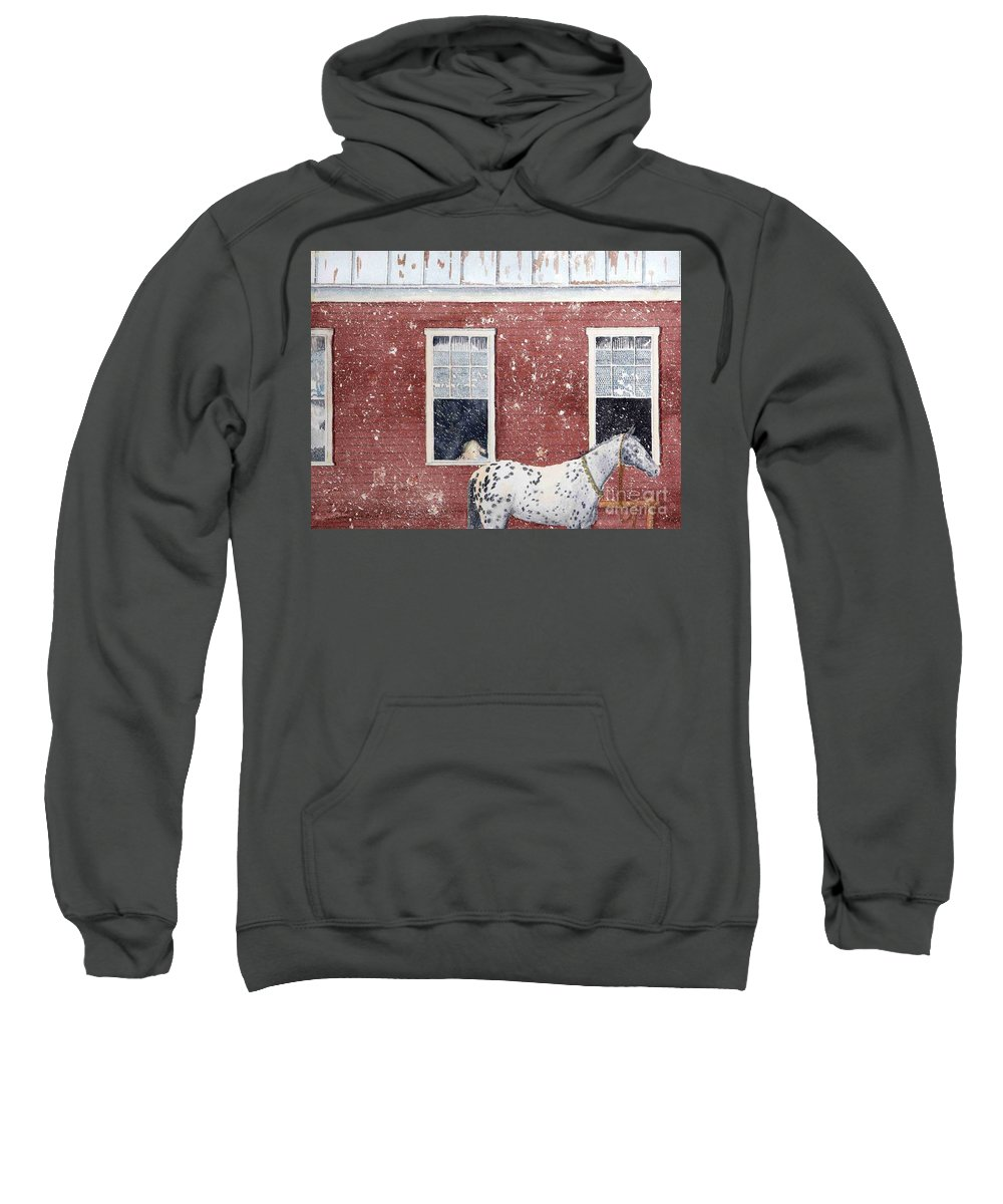 Horses Sweatshirt featuring the painting The Ride Home by LeAnne Sowa