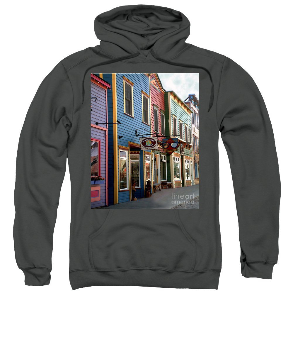 Landscape Sweatshirt featuring the photograph The Shops In Crested Butte by RC DeWinter