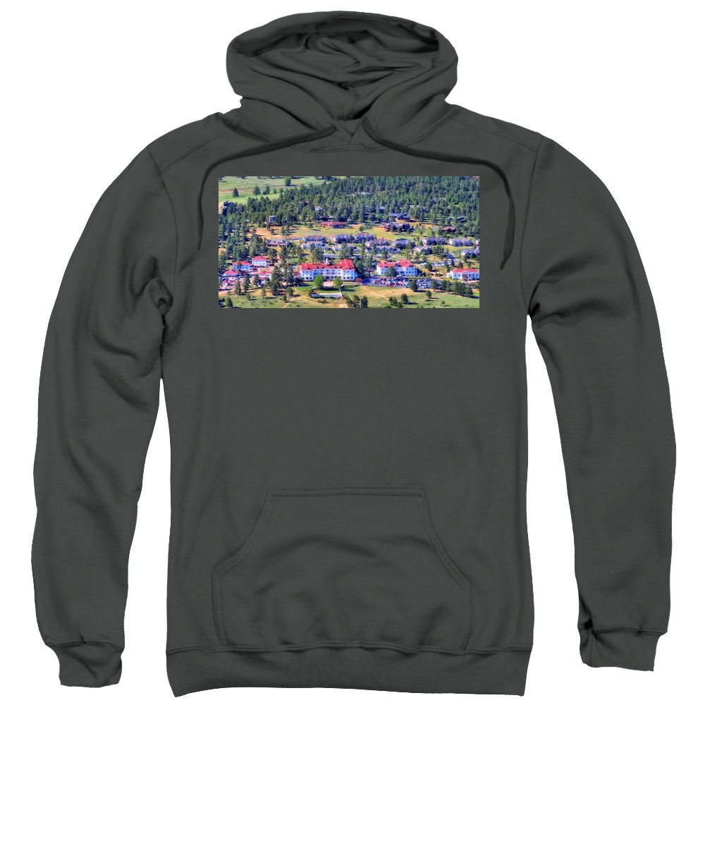 The Stanley A Grand Heritage Hotel Sweatshirt featuring the photograph The Stanley A Grand Heritage Hotel by Dan Sproul