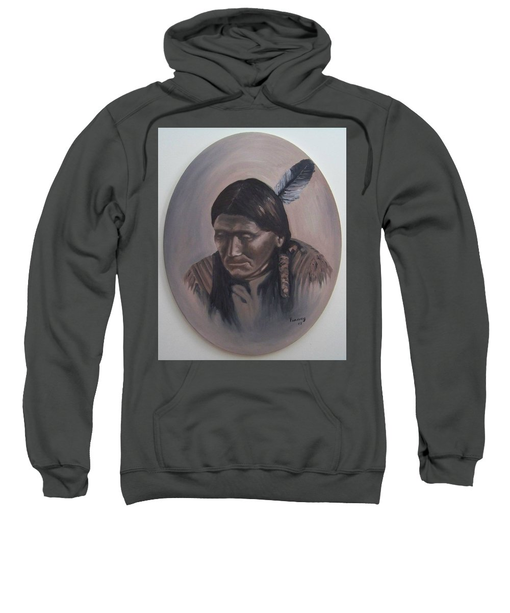 Michael Sweatshirt featuring the painting The Story Teller by Michael TMAD Finney