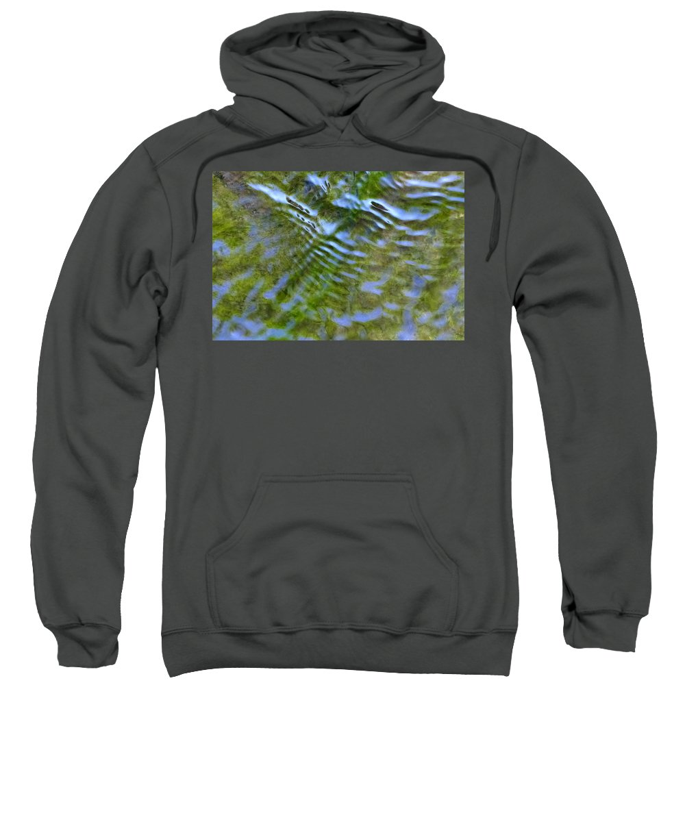 Outdoors Sweatshirt featuring the photograph The Stream by Charles Ford