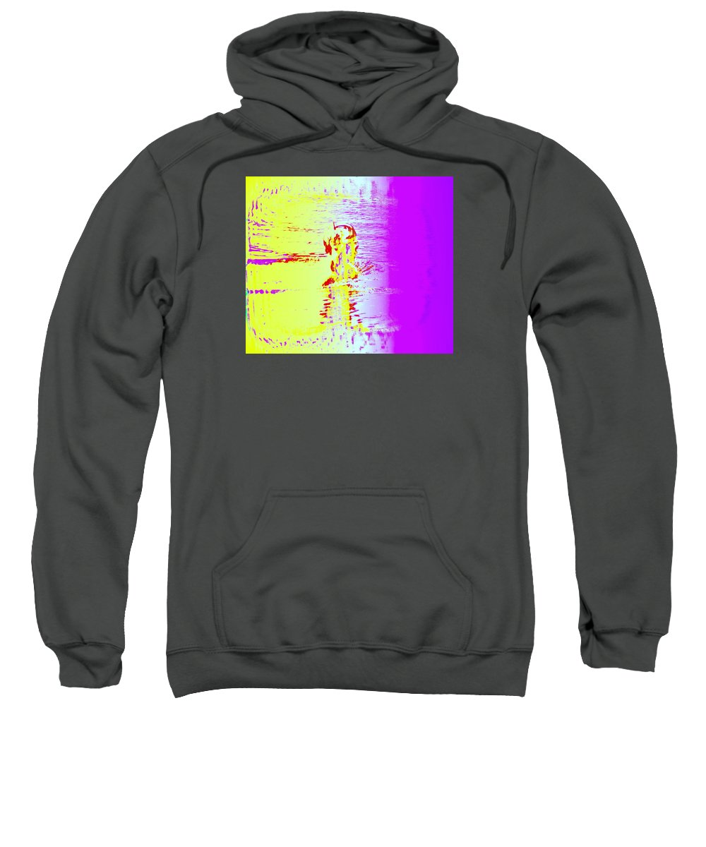 Swim Sweatshirt featuring the photograph If You Wonder When The Swimmer Needs Some Air by Hilde Widerberg