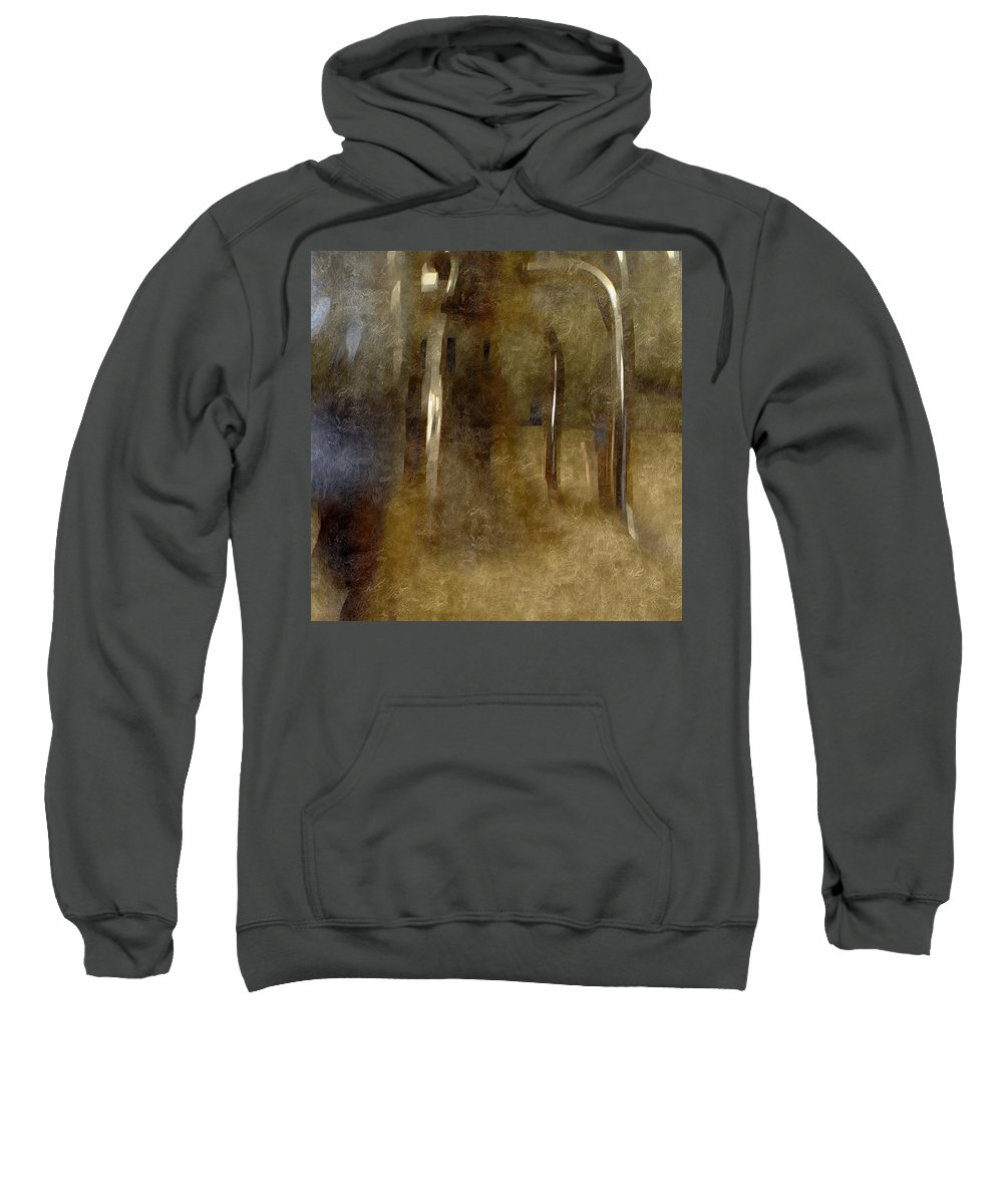 Abstract Sweatshirt featuring the digital art The Table Has Been Set by James Barnes