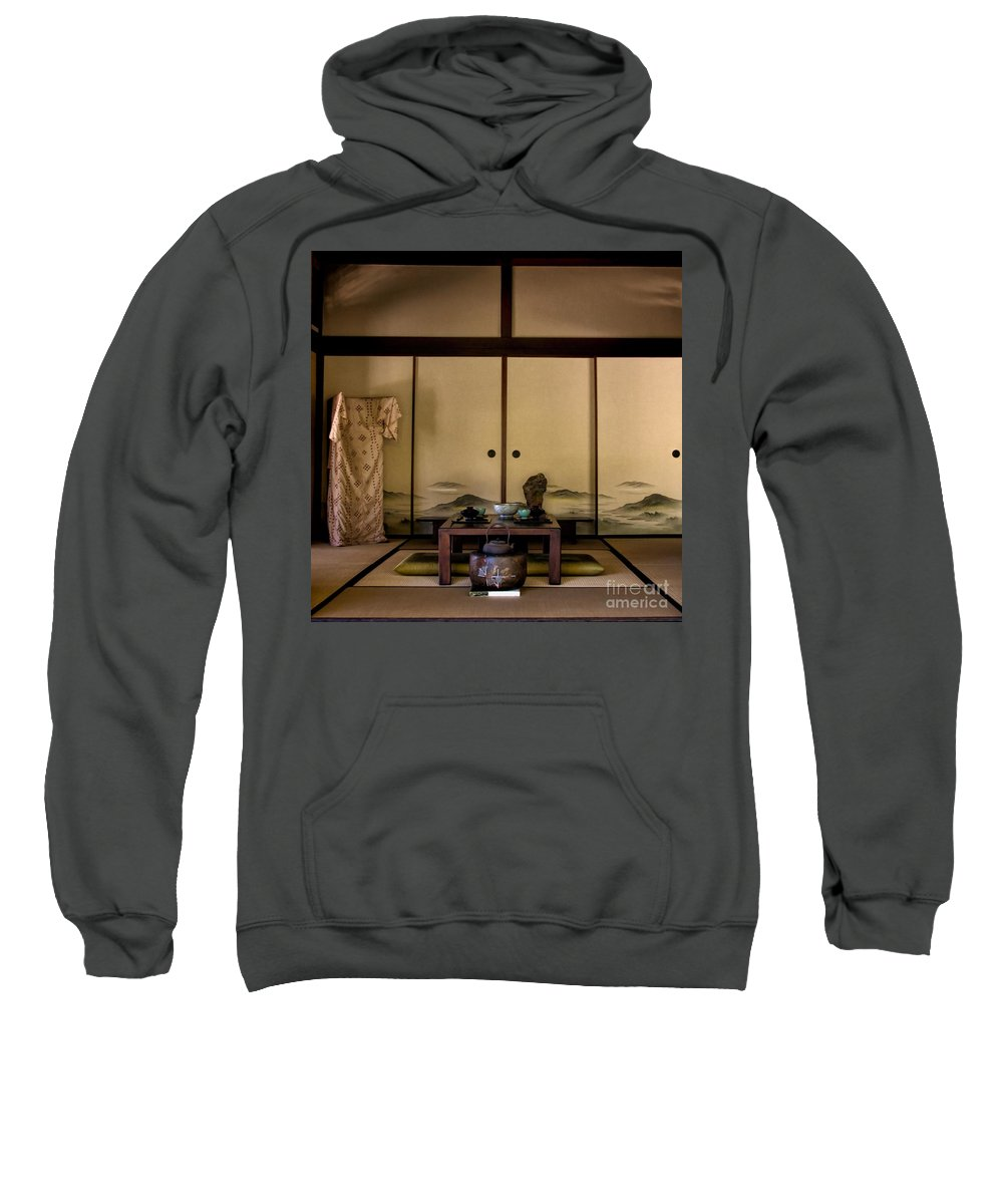 Japanese Garden Sweatshirt featuring the photograph The Tea Room by Peggy Hughes