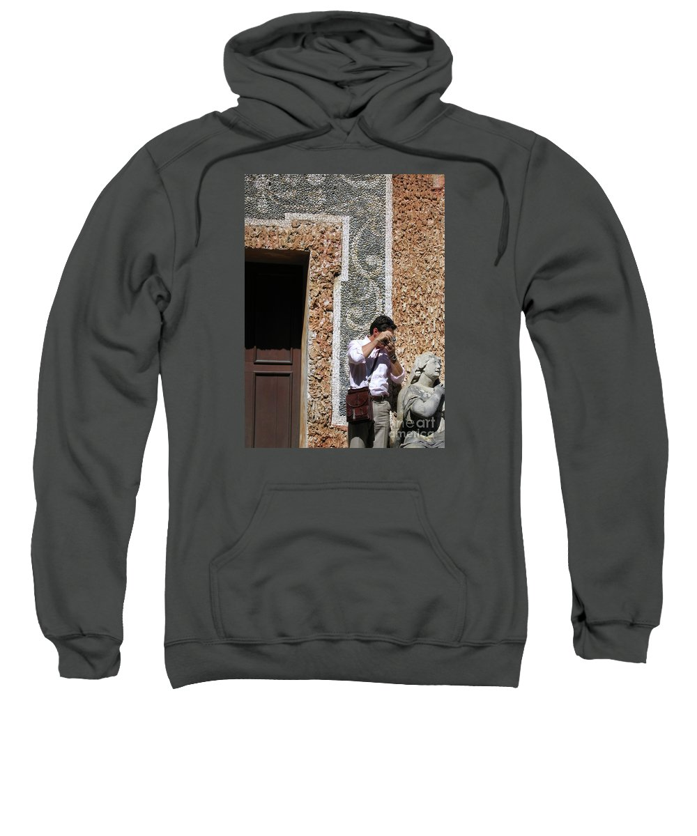 Austria Sweatshirt featuring the photograph The Tourist And His Lady by Ann Horn
