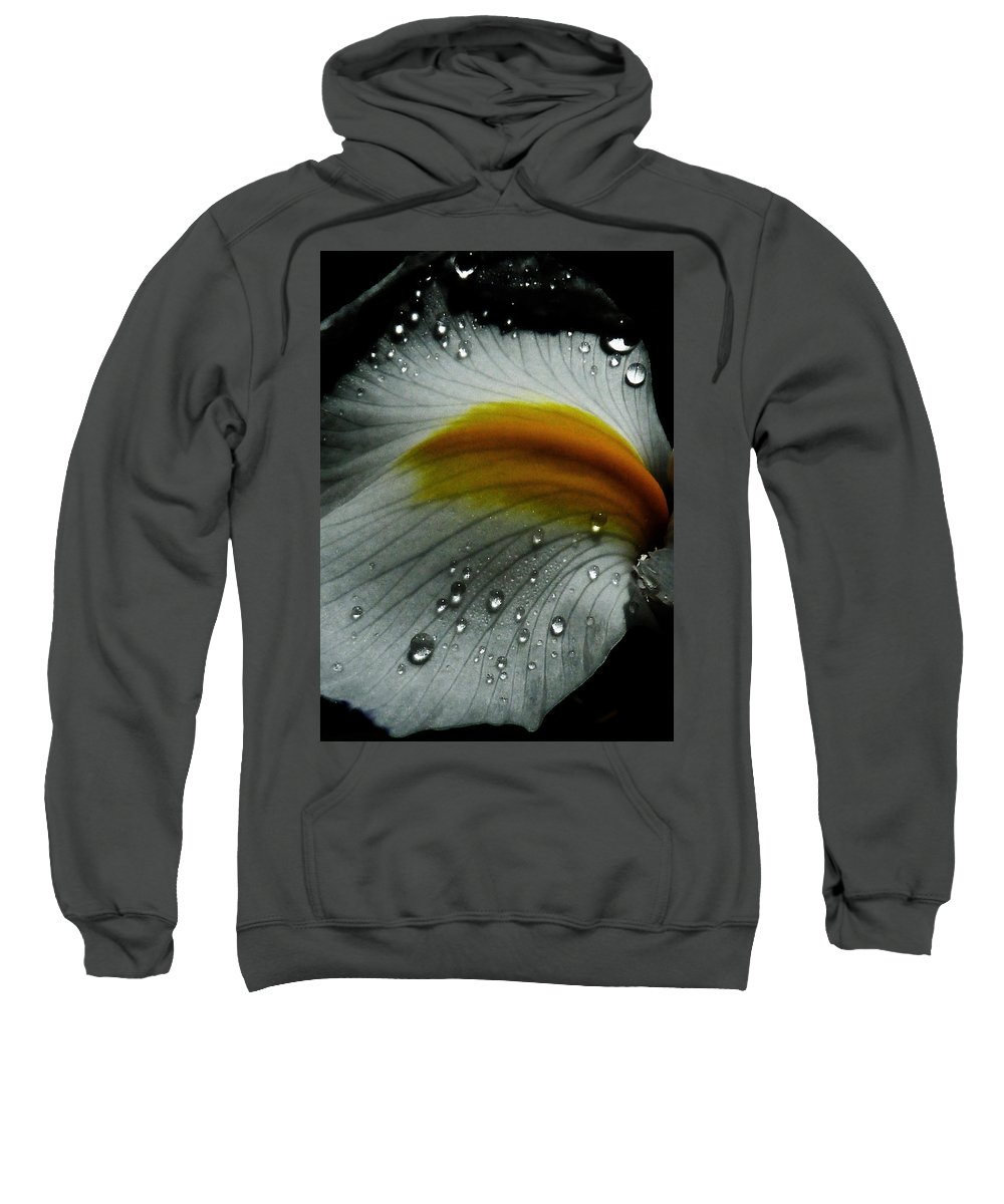 Flower Sweatshirt featuring the photograph The Tracks Of My Tears by Steve Taylor