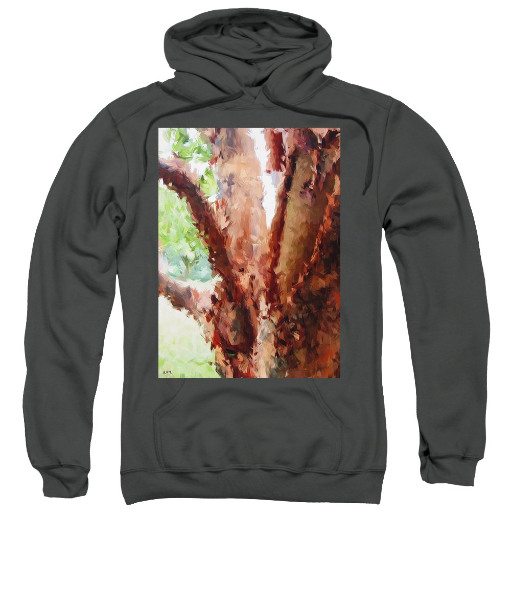Tree Sweatshirt featuring the painting The Trees In Spring Time by Robert Margetts