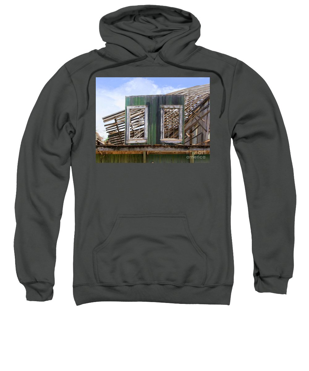 Windows Sweatshirt featuring the photograph The Two Left Standing by Mary Deal