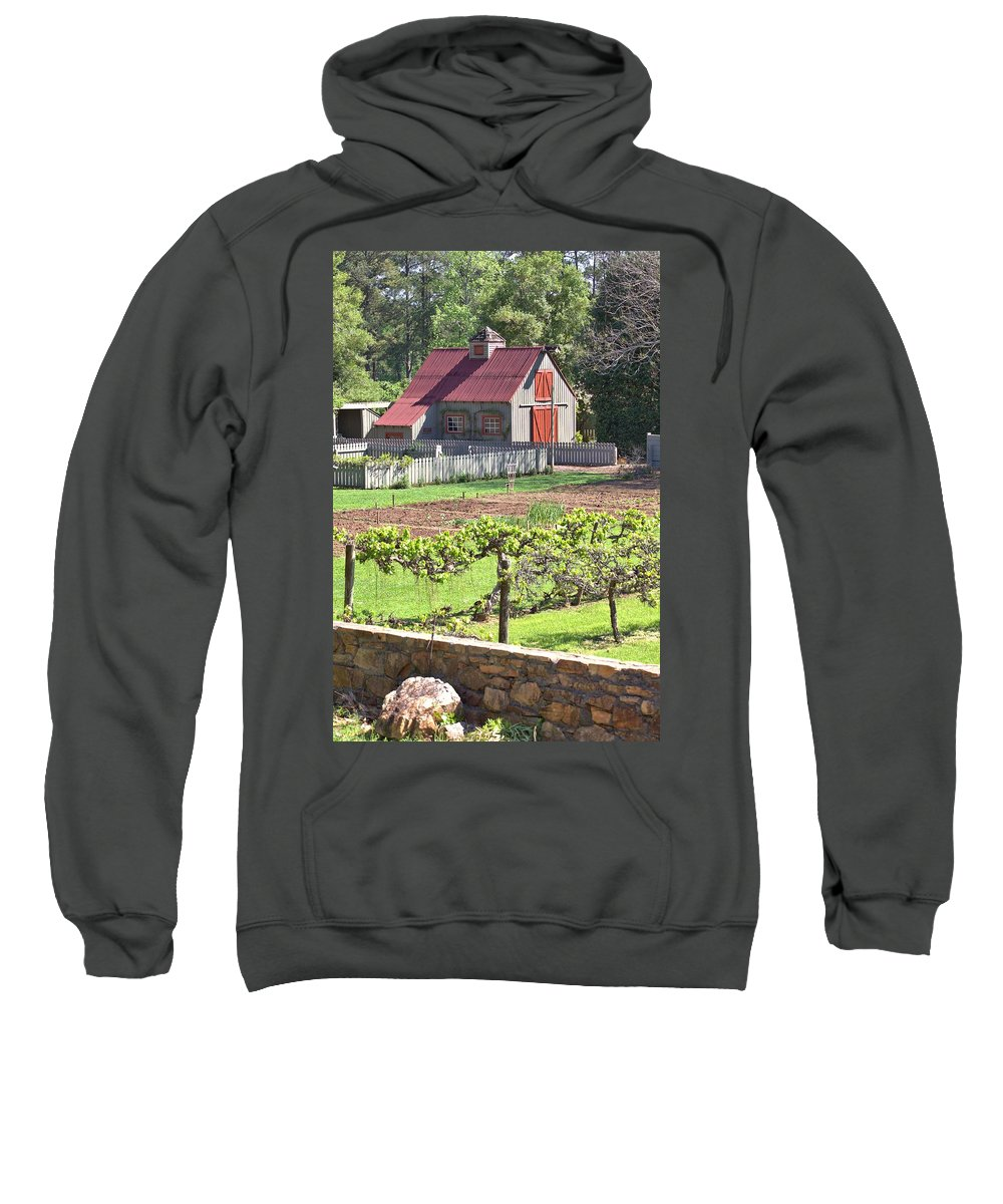 8316 Sweatshirt featuring the photograph The Vineyard Barn by Gordon Elwell