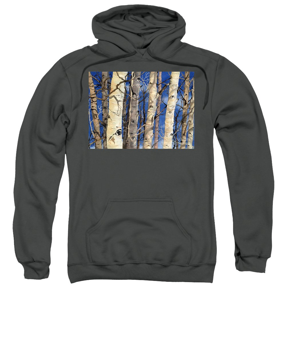 Water Color Paintings Sweatshirt featuring the painting The Watchers by Barbara Jewell