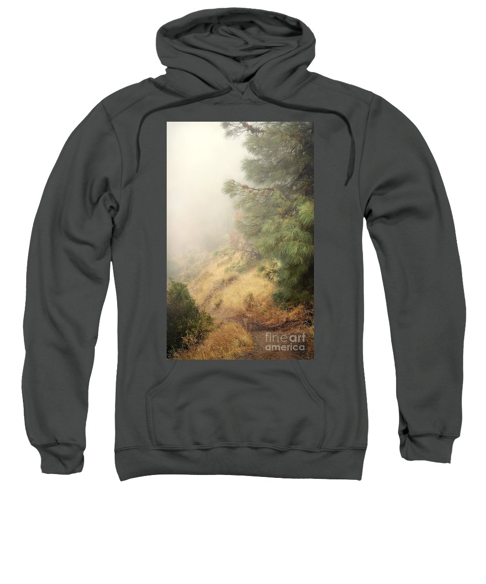 Fog Sweatshirt featuring the photograph There And Back Again 2 by Ellen Cotton