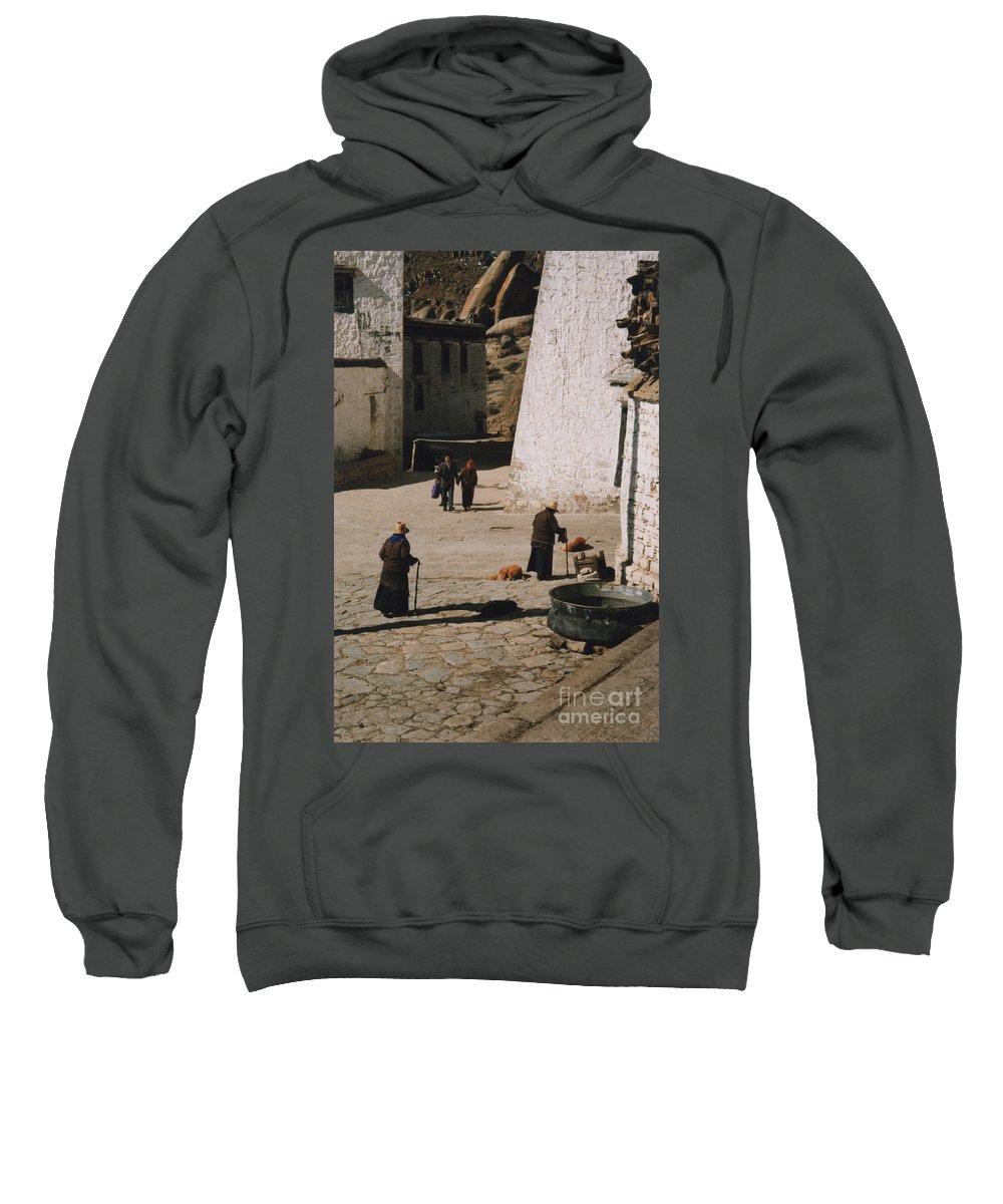 Tibet Sweatshirt featuring the photograph Tibet 2x2x2 By Jrr by First Star Art
