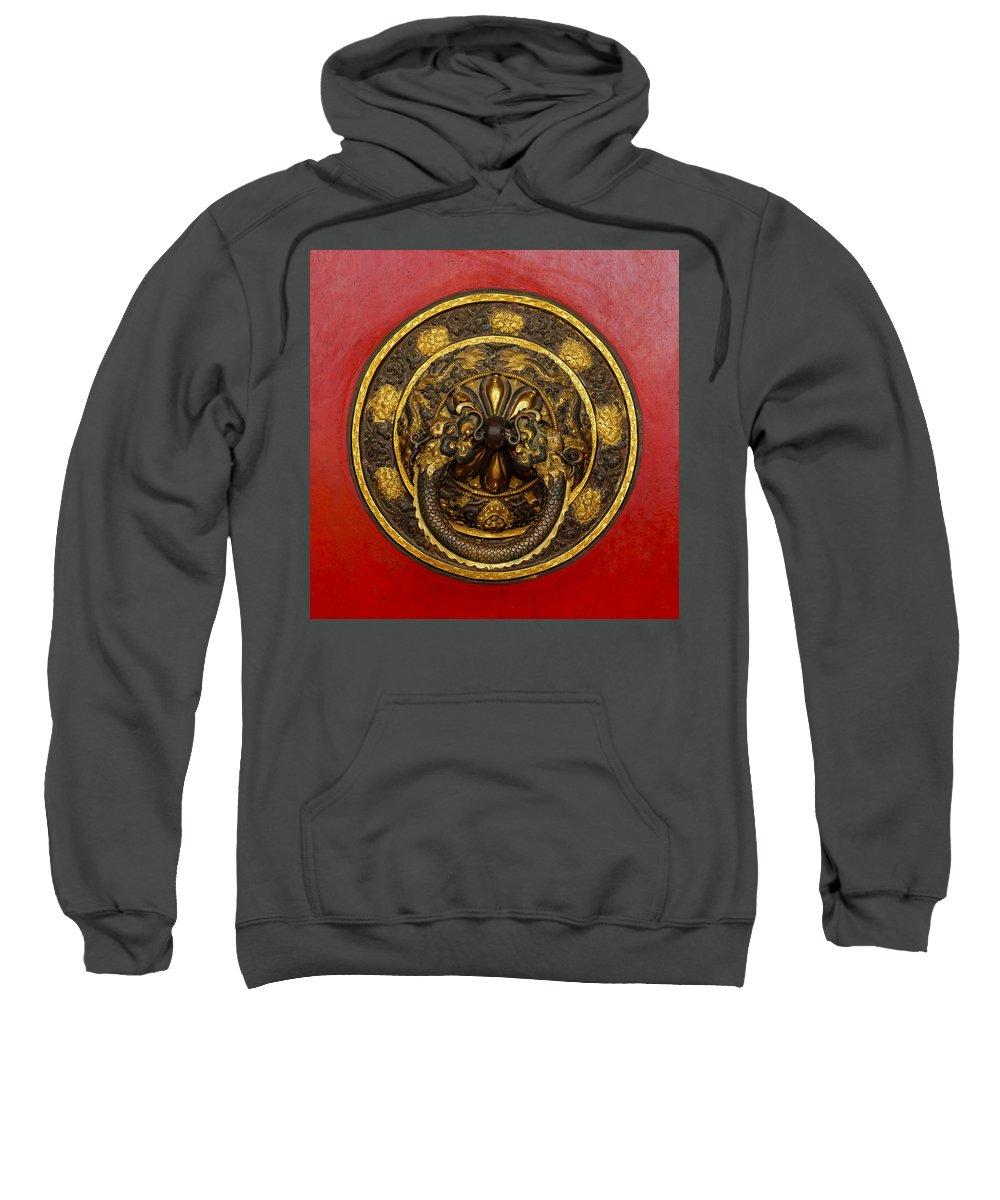 Door Sweatshirt featuring the photograph Tibetan Door Knocker by Dutourdumonde Photography