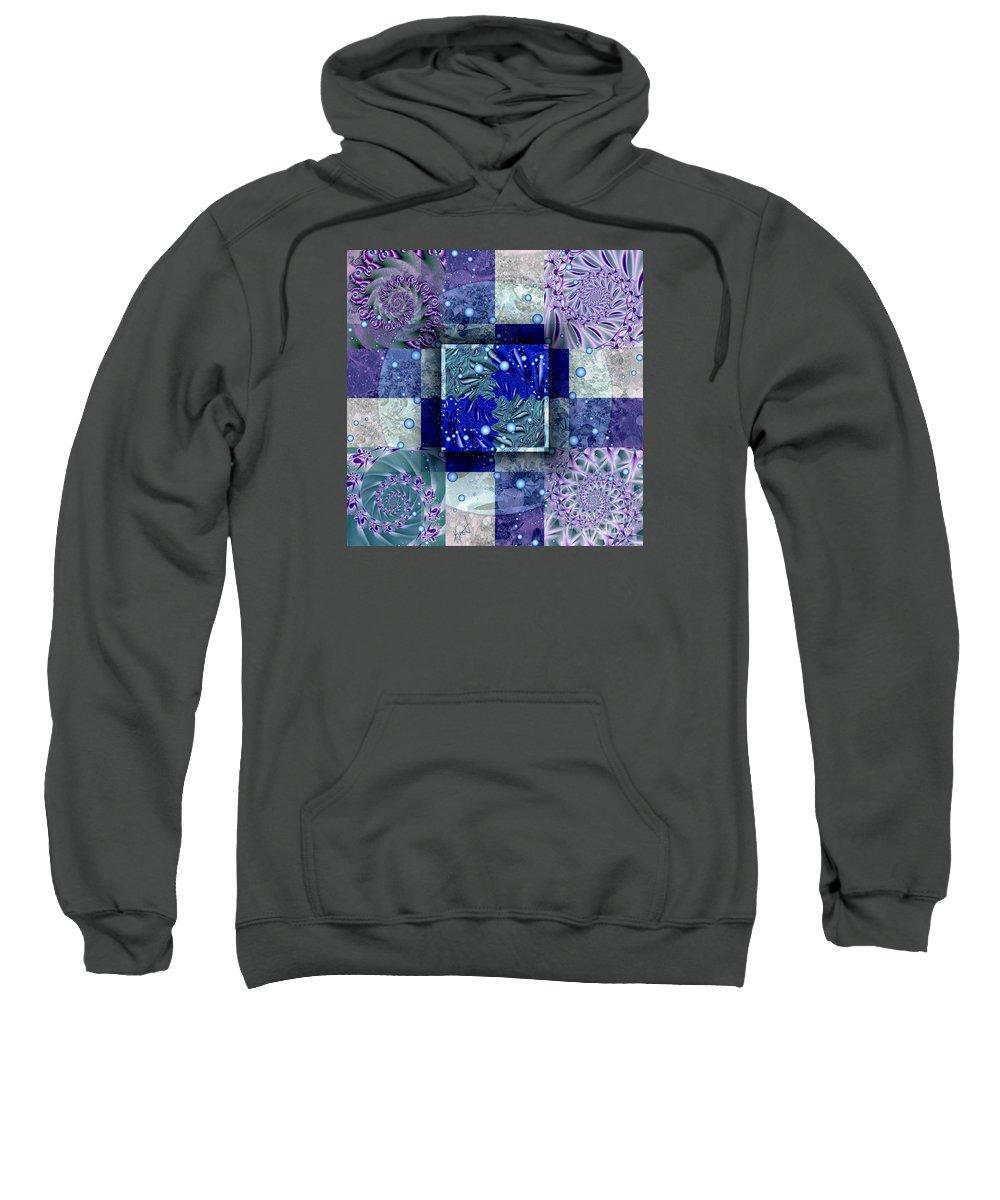 Tidepools Sweatshirt featuring the digital art Tidepools by Kimberly Hansen