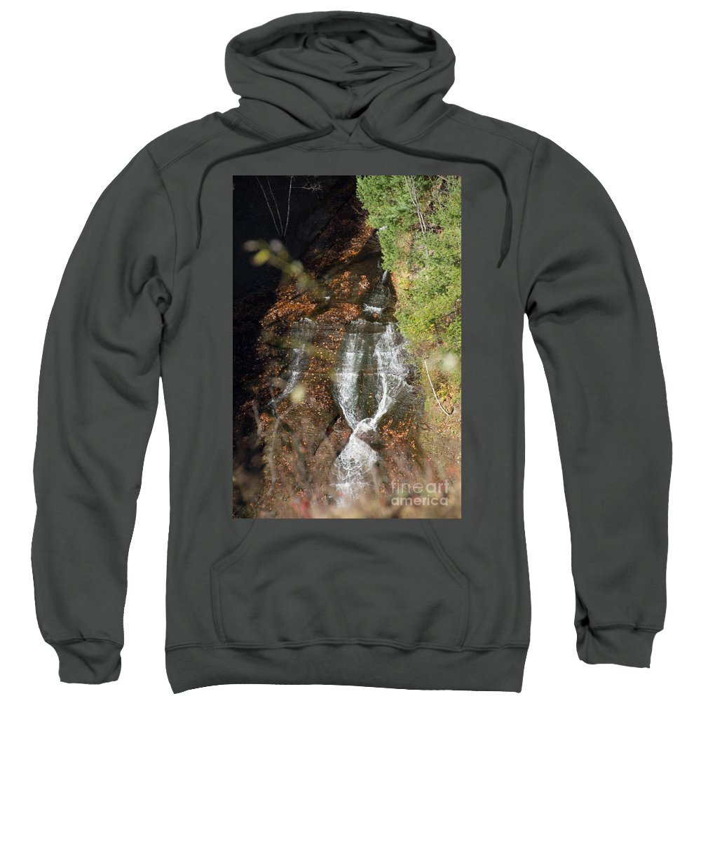 Letchworth Sweatshirt featuring the photograph Tie Falls by William Norton