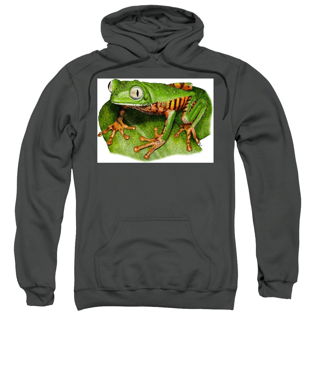 Illustration Sweatshirt featuring the photograph Tiger-legged Monkey Frog by Roger Hall