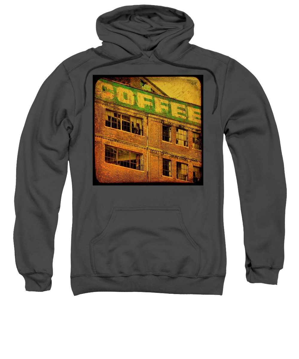 Urban Sweatshirt featuring the photograph Time For Coffee by Gothicrow Images