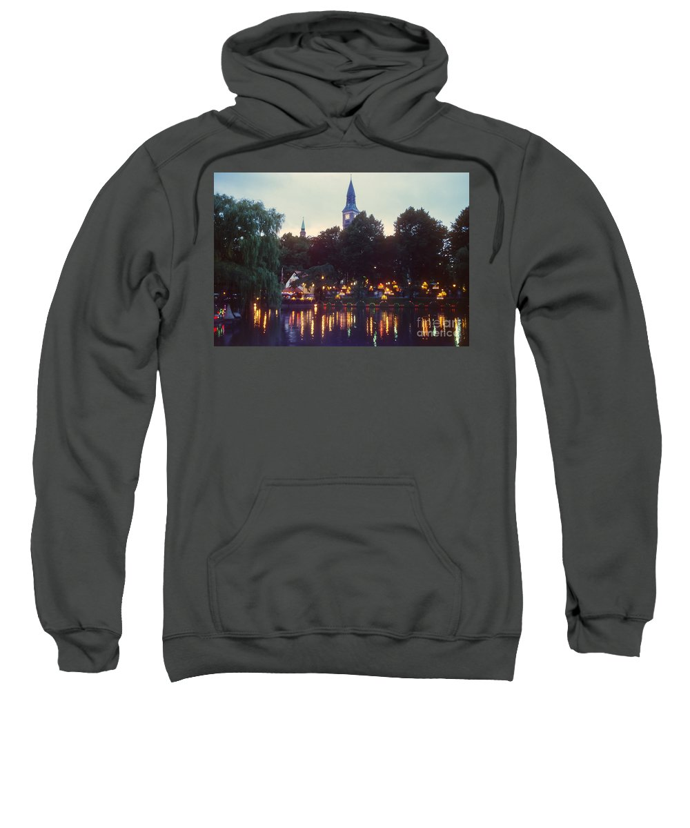 Tivoli Gardens Sweatshirt featuring the photograph Tivoli Night Lights by Bob Phillips