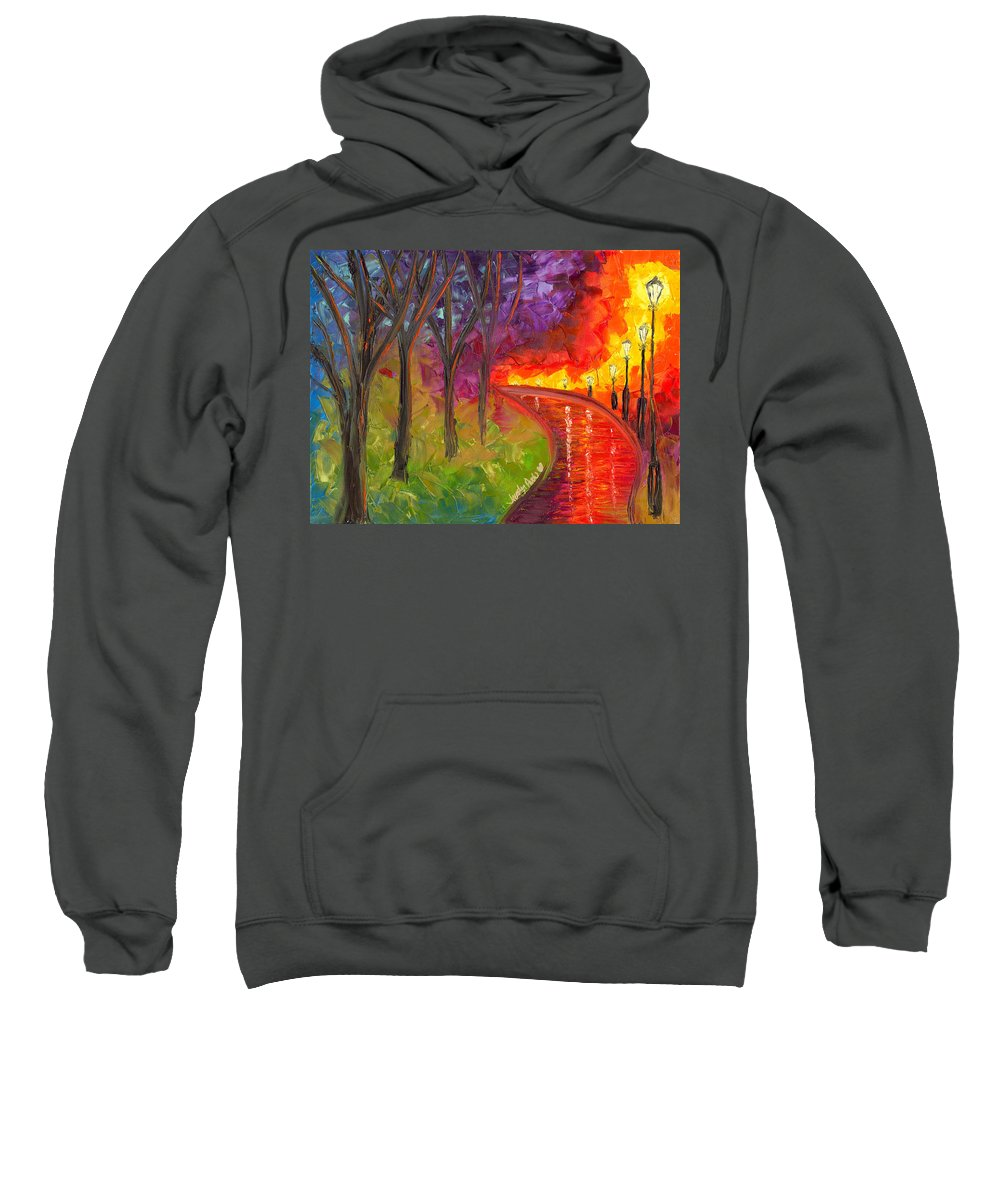 Path Sweatshirt featuring the painting To Be Continued by Jessilyn Park
