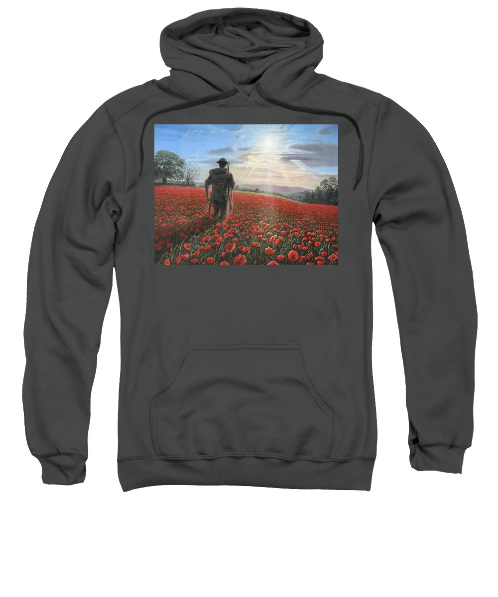 Landscape Sweatshirt featuring the painting Tommy by Richard Harpum