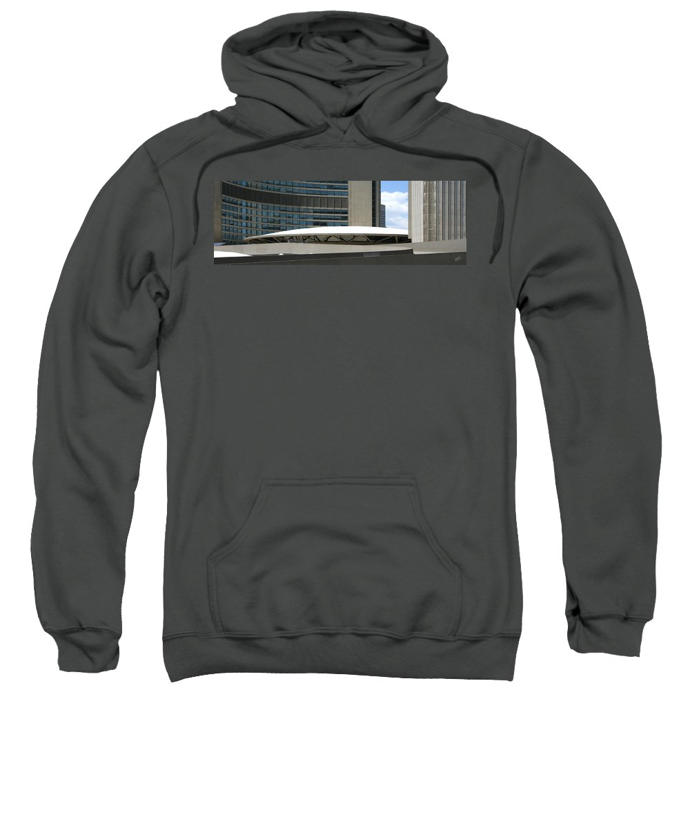 Architectural Detail Sweatshirt featuring the photograph Toronto Silhouettes V by Ben and Raisa Gertsberg