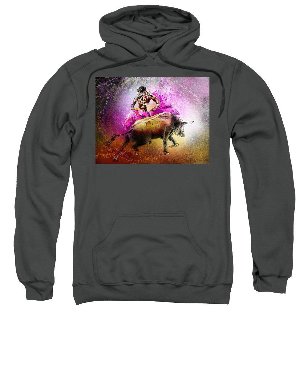 Animals Sweatshirt featuring the painting Toroscape 38 by Miki De Goodaboom