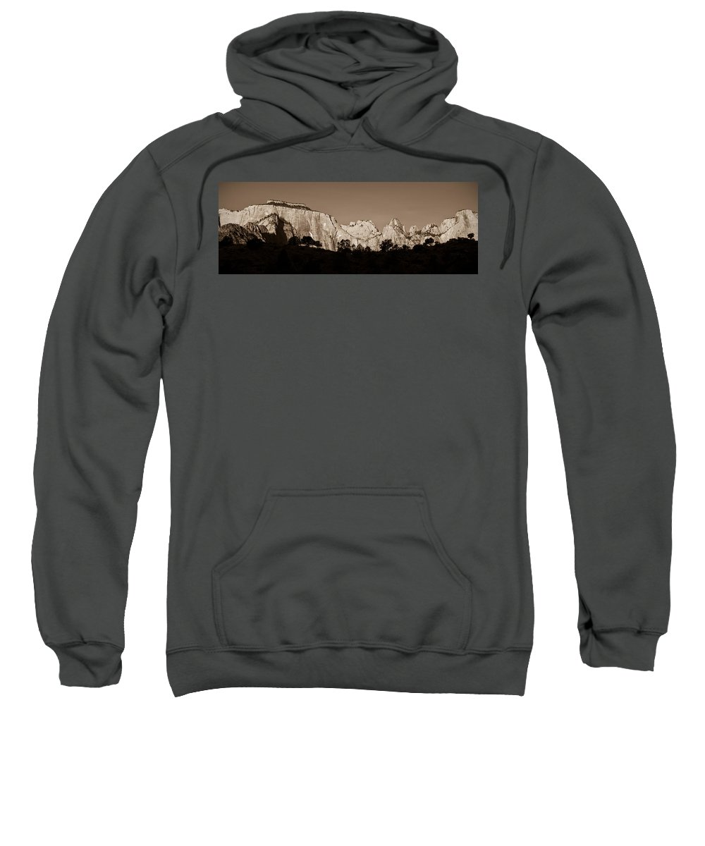 3scape Photos Sweatshirt featuring the photograph Towers Of The Virgin by Adam Romanowicz