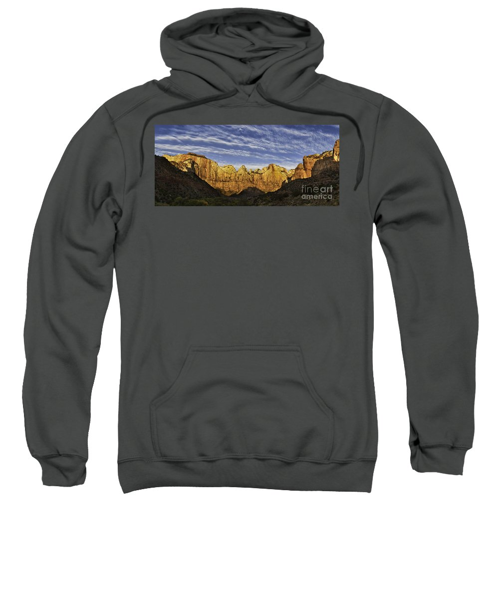 Altar Of Sacifice Sweatshirt featuring the photograph Towers Of The Virgin by Jerry Fornarotto