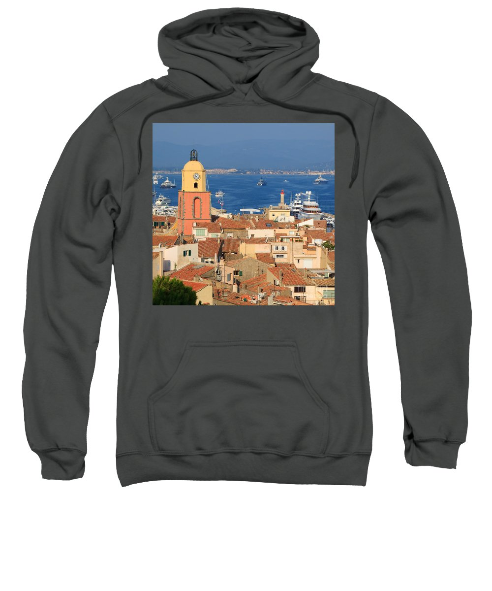 Bell Tower Sweatshirt featuring the photograph Town Of St Tropez Cote D'azur France by Matteo Colombo