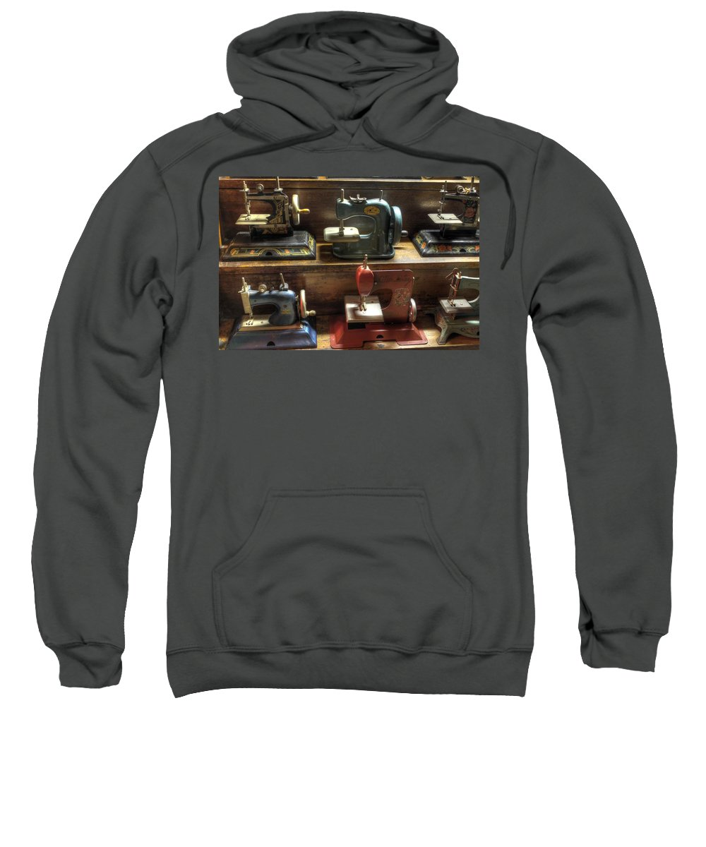 Sew Sweatshirt featuring the photograph Toy Sewing Machines by Jane Linders