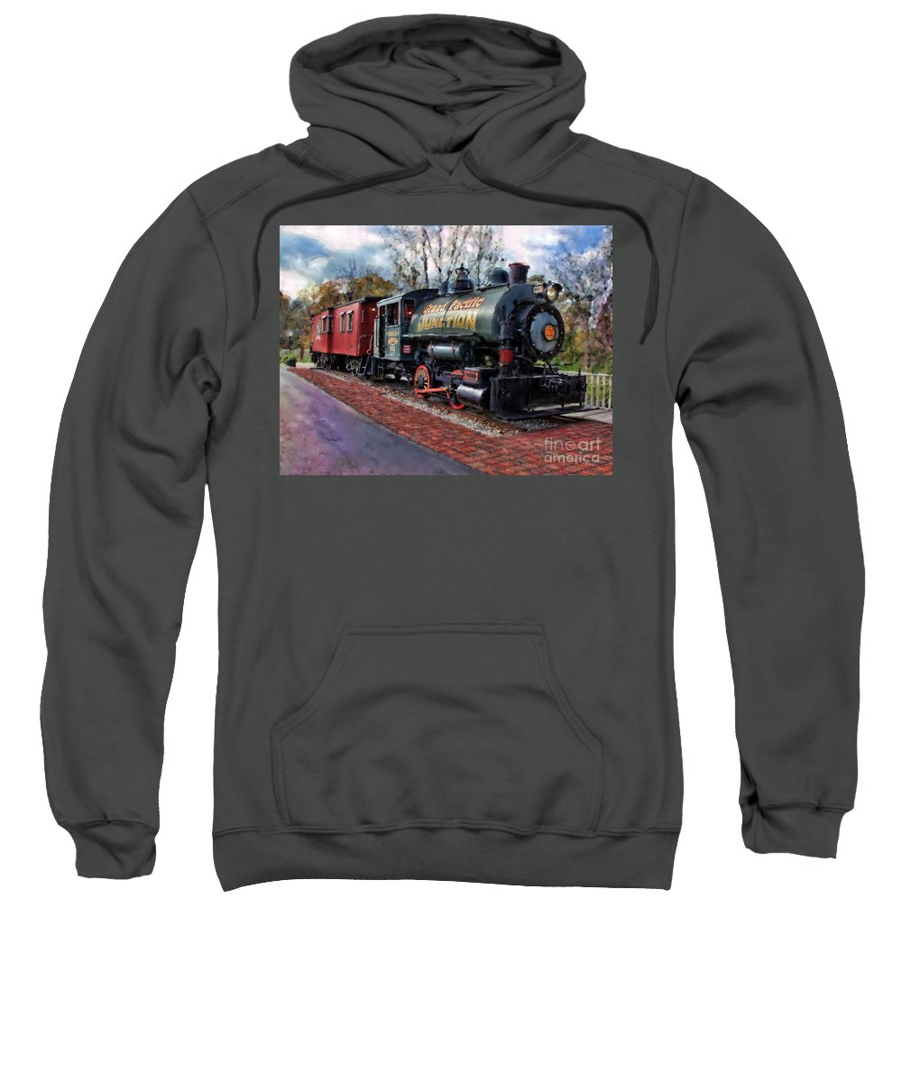 Photographer In North Ridgeville Sweatshirt featuring the photograph Train At Olmsted Falls - 1 by Mark Madere