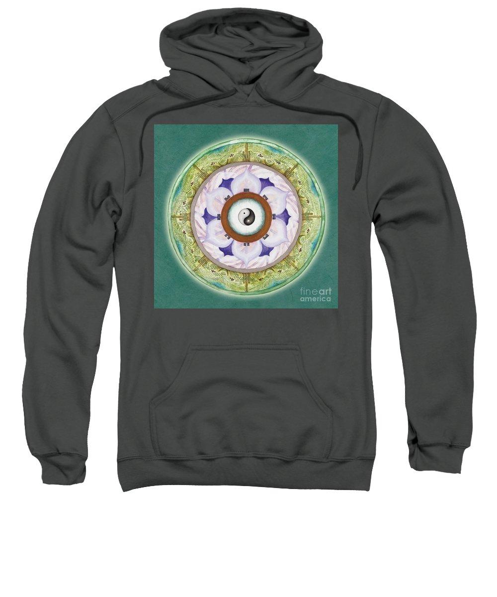 Mandala Art Sweatshirt featuring the painting Tranquility Mandala by Jo Thomas Blaine
