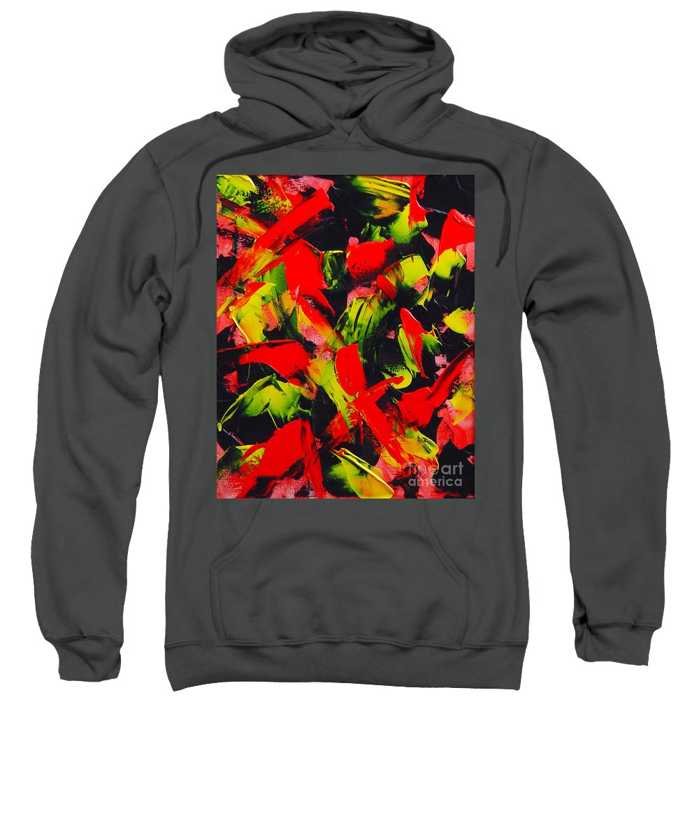 Abstract Sweatshirt featuring the painting Transitions IIi by Dean Triolo