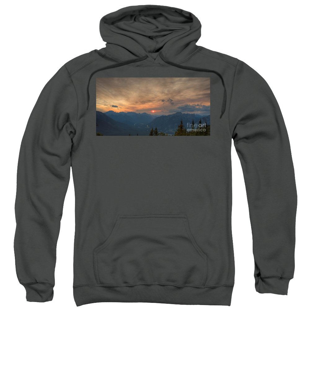 Sun Sweatshirt featuring the photograph Translucent Sunset In Widescape by James Anderson