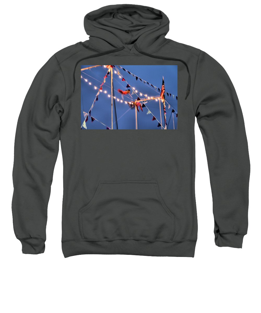 Movement Sweatshirt featuring the photograph Trapeze Blur by Dan Sproul