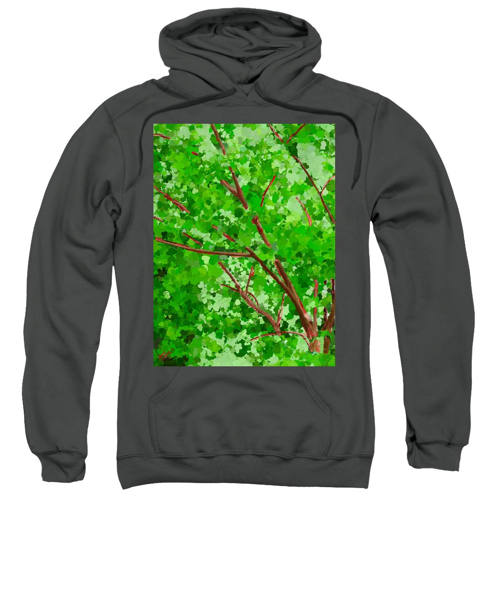 Green Sweatshirt featuring the painting Tree Of Life by Bruce Nutting