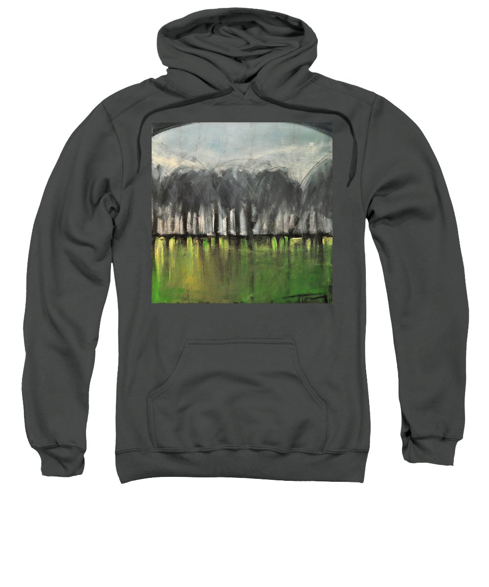 Trees Sweatshirt featuring the painting Treeline by Tim Nyberg