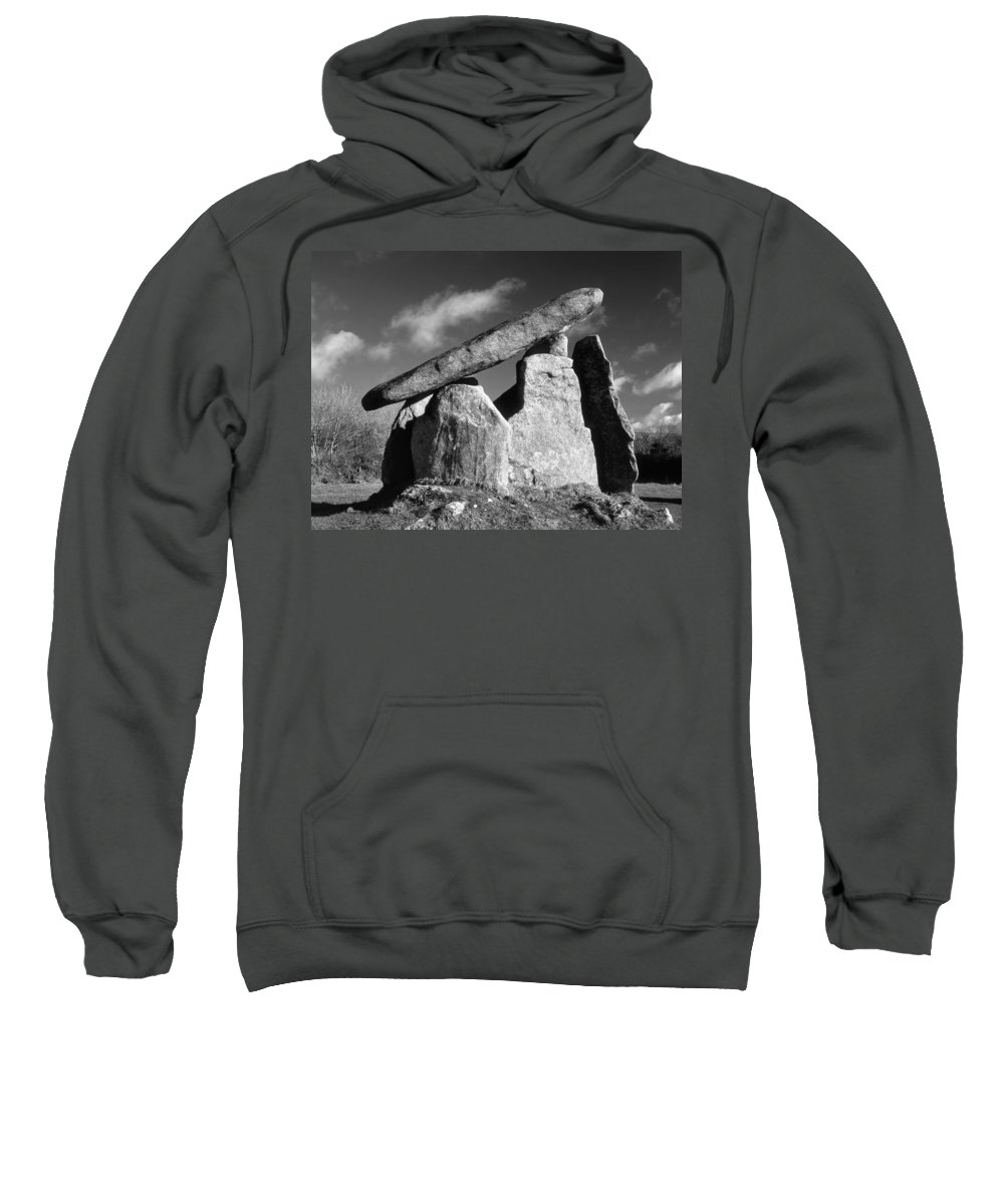 Landscape Sweatshirt featuring the photograph Trevethy Quoit by Darren Galpin